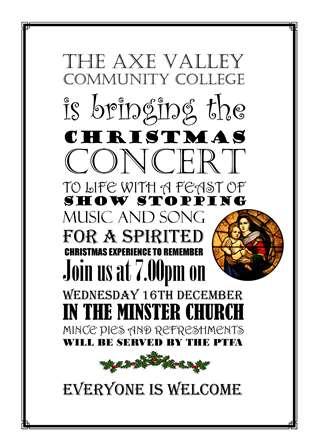 2015 Christmas Concert invite